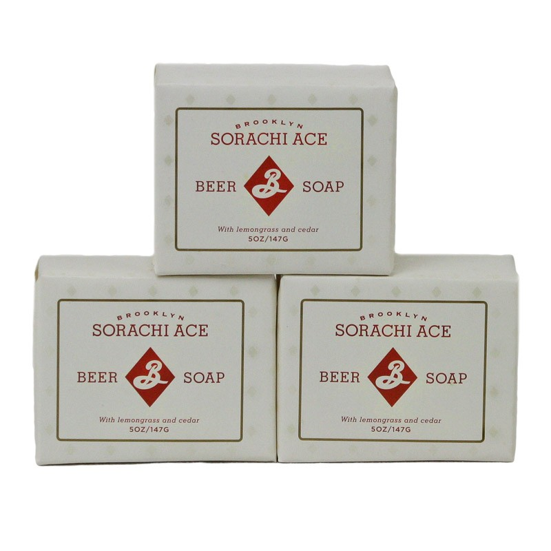 Beer soap made with Sorachi Ace beer and malt grains