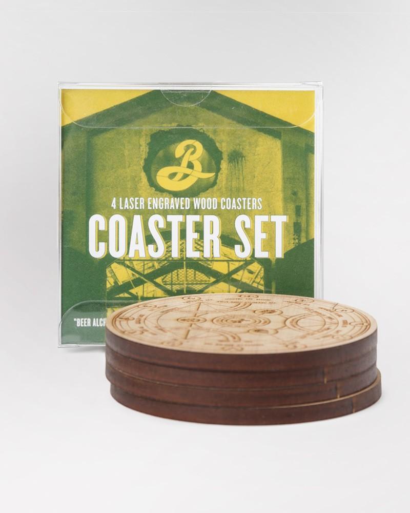 Brooklyn X BKLZR Wooden Coaster Set