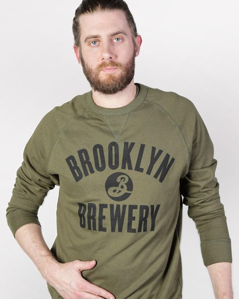 Brooklyn Crew Neck Sweatshirt - Olive