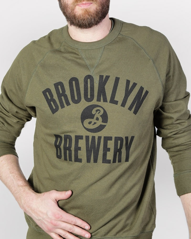 Brooklyn Crew Neck Sweatshirt - Olive