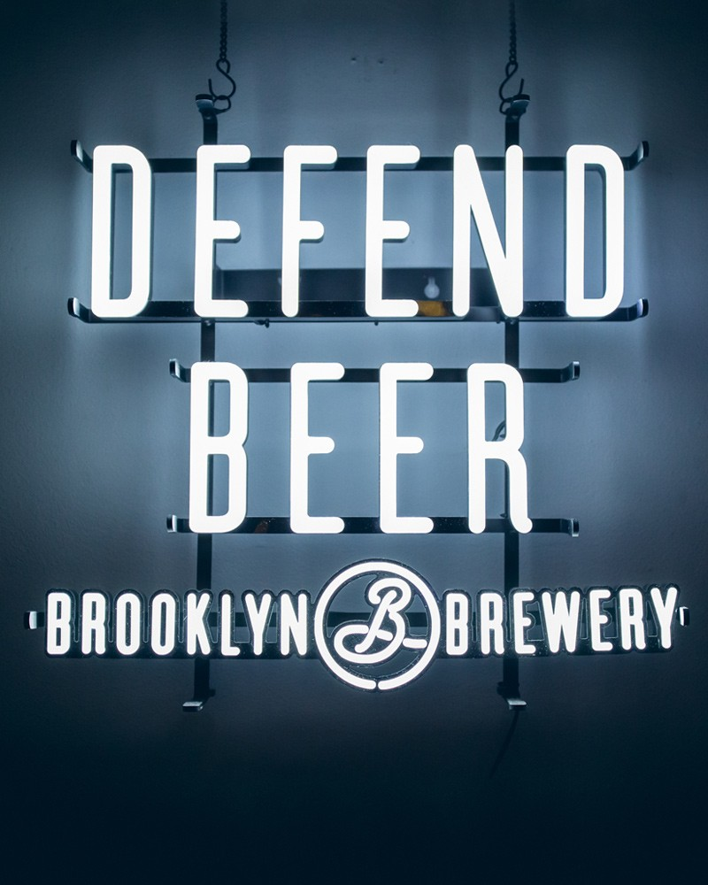 Defend Beer Lighted Sign