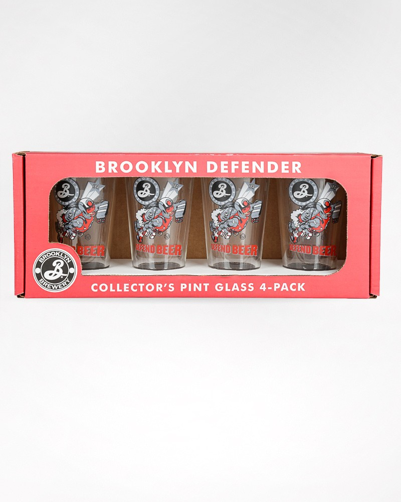 Defender Pint Glass 4-Pack