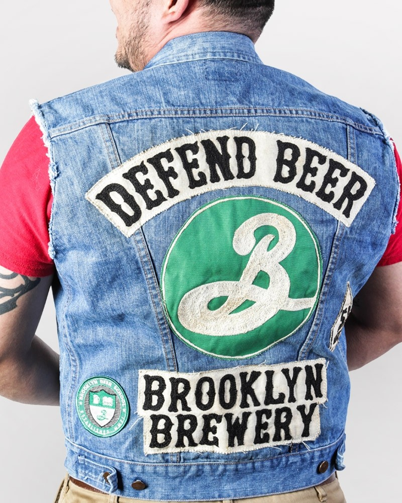 Defend Beer Vintage Denim Vest Jacket