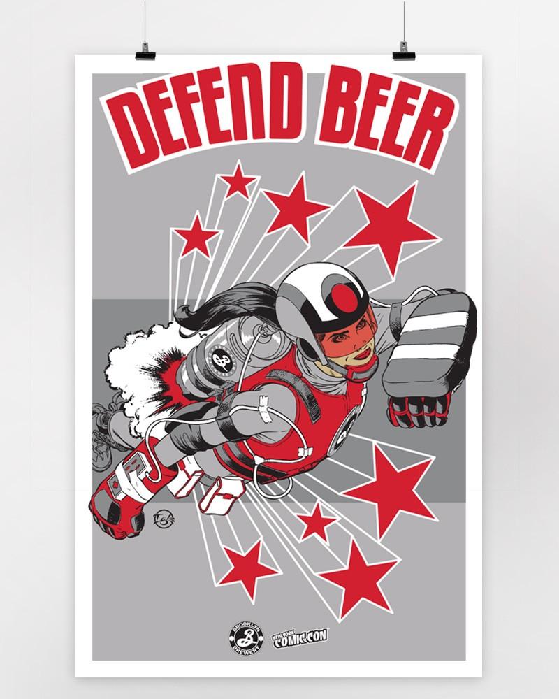 Defend Beer Print