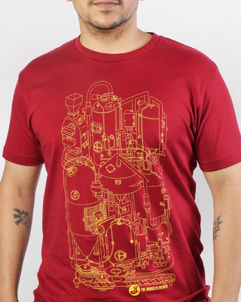Brewhouse Blueprint Tee - Red