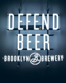 Defend Beer LED Sign