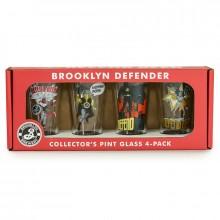 Defender Pint Glass 4-Pack