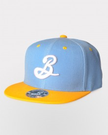 Brooklyn B Snapback - Gold/Blue