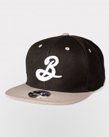 Brooklyn B Snapback - Black/Gray
