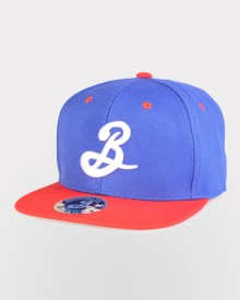 Brooklyn B Snapback - Red/Royal