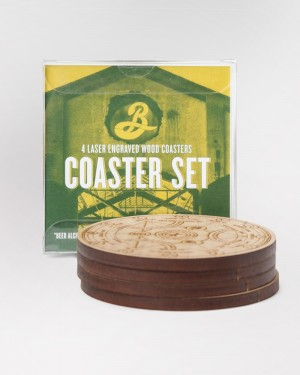 Brooklyn X BKLZR Wooden Coaster Set