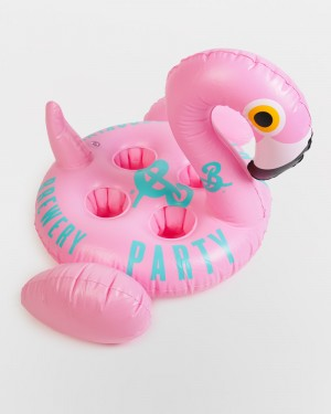 """Party Tartly"" Pink Flamingo Beer Holder Pool Float"