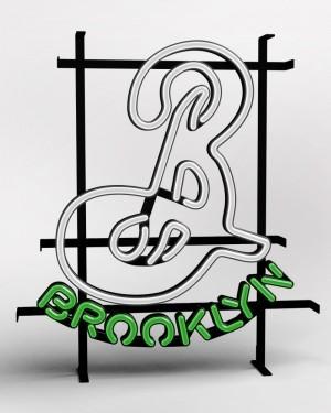 "Brooklyn ""B"" LED Sign (Euro 220v)"