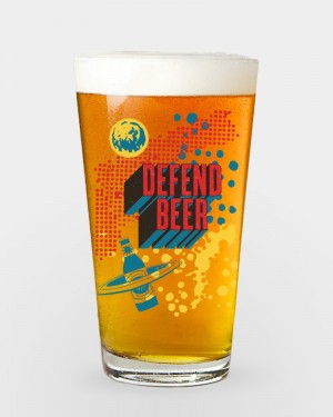 Brooklyn Defender Pint Glass
