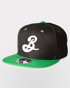 Brooklyn B Snapback - Green/Black