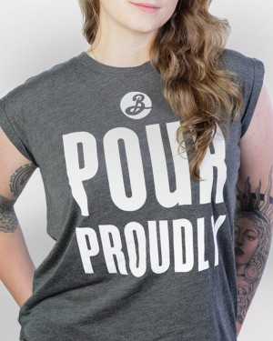Pour Proudly Cuffed Tee