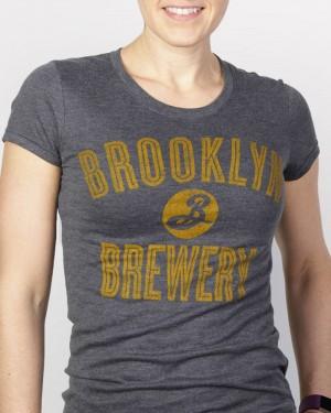 Brooklyn Varsity Tee - Charcoal