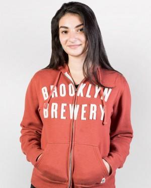 Brooklyn Brewery Zip Hoodie - Rust