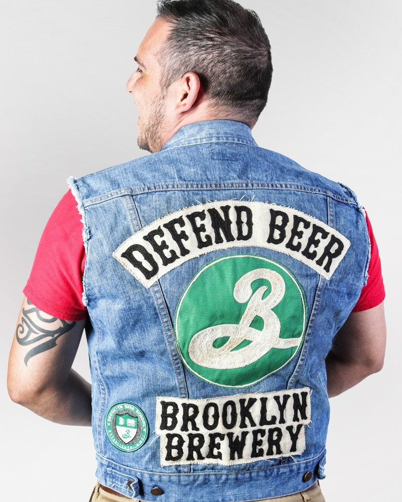 Defend Beer Vintage Denim Vest Jacket