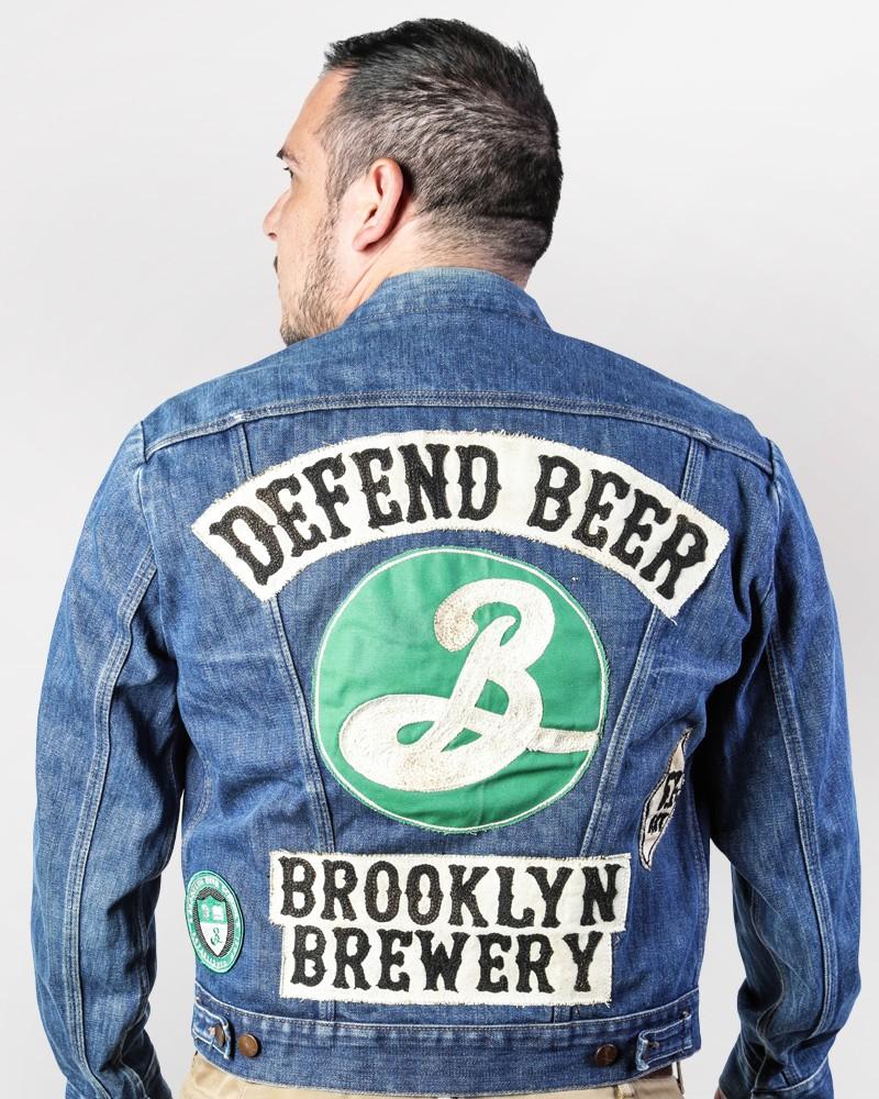 Defend Beer Vintage Denim Jacket