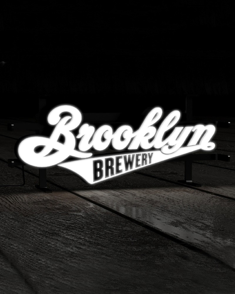 Brooklyn Script LED Sign