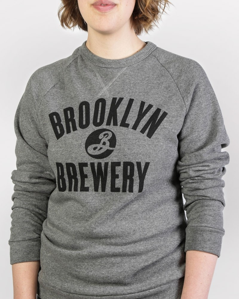 Brooklyn Crew Neck Sweatshirt - Grey