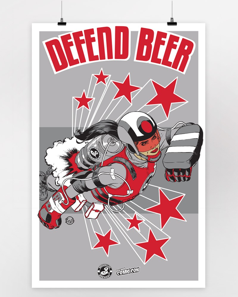 Defend Beer Print