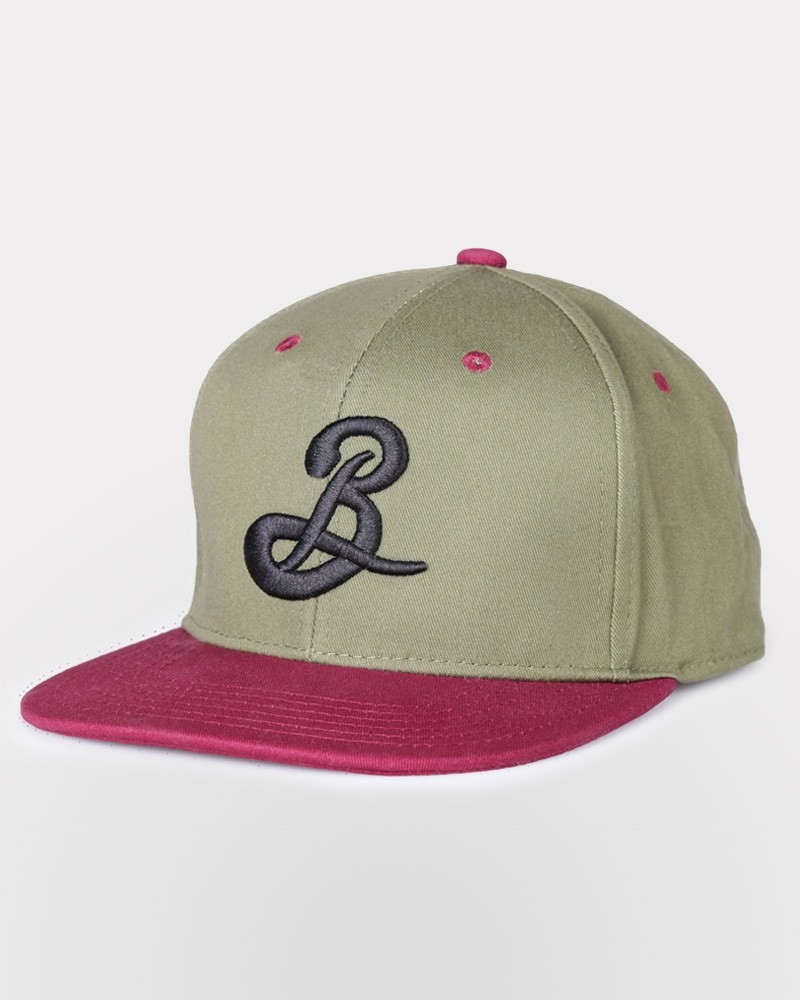 Brooklyn B Snapback - Black/Olive