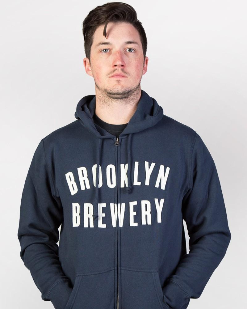Brooklyn Brewery Zip Hoodie - Navy