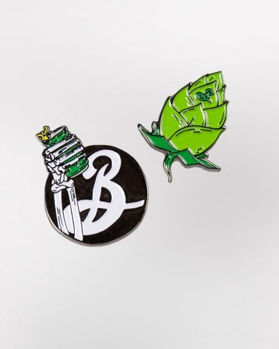Sale! Enamel Pin Set - Hop Cone & Skeleton