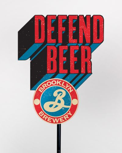 Defend Beer Poletopper