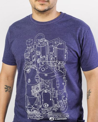 Brewhouse Blueprint Tee - Blue