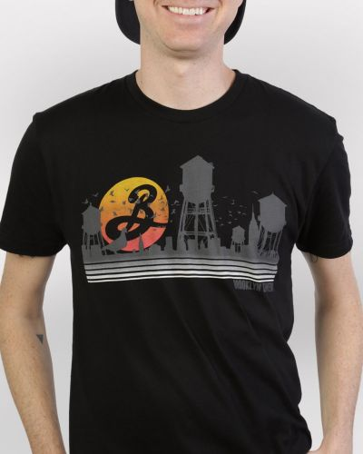 Brooklyn Water Towers Tee - Black
