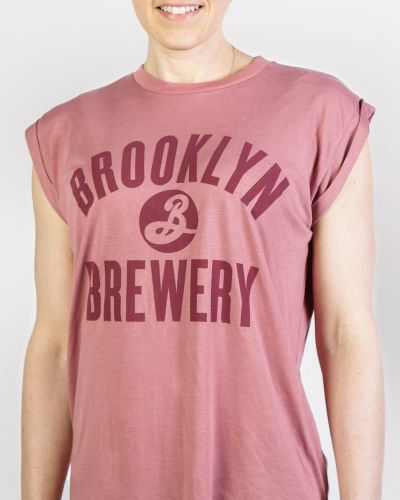 Brooklyn Cuffed Muscle Tee - Red